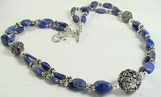Blue Lapis Necklace 280cts Spinal Lapis by KimberlysTreasure, $149.00