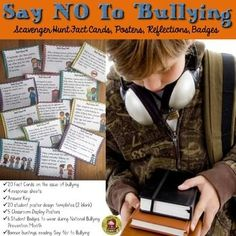 Research shows that bullying is a major problem in most schools. Often students are not consciously aware that they are engaging in undesirable behavior or often dont know how to react if they are a bystander. These 20 facts cards will bring light to the