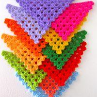 crocheted bunting |