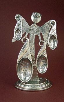Pewter angel measuring spoons