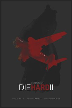 Die Hard 2 (1990) ~ Minimal Movie Poster by Foursquare #amusementphile