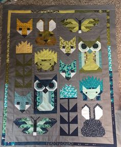 Fancy Forest baby quilt
