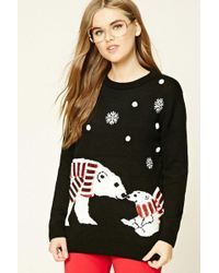 02e00402a Lyst - Women's Forever 21 Polar Bear Sequined Jumper Holiday Mood, Holiday  Wear, Christmas