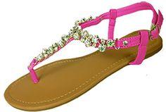 Womens T Strap Gladiator Sandals Flats shoes W/Iridescent Rhinestones (6347 7/8, Fuchsia) Shoes8teen http://www.amazon.com/dp/B00HFX1PIG/ref=cm_sw_r_pi_dp_t9kevb0JZ7M9V
