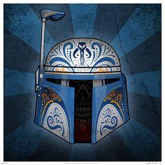 Dia de Los Muerto Star Wars by John Karpinsky