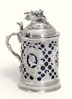 A Dutch pierced silver mustard pot, Johannes Arntzen, Arnhem, circa 1790 (date…
