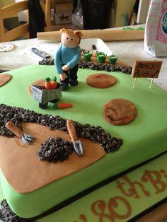 Hobby cake for a gardener