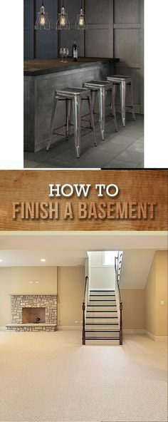 Best DIY Renovation Ideas for unfinished Basement Basement Decorating, Basement Makeover, Basement Renovations, Diy Crafts For Gifts, Diy Home Crafts, Simple Diy, Easy Diy, Rustic Stairs, Cheap Diy Home Decor