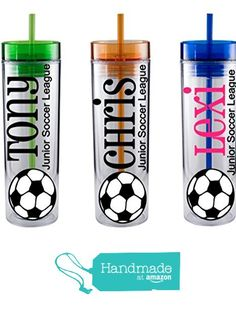 Personalized 16 oz Soccer Team Cups - Soccer Gifts - Coach Gifts - Soccer Mom - Sports Gifts - Team Gifts - Soccer - Soccer Tumbler - Gifts from Sugar Soireè https://www.amazon.com/dp/B01H44L8AU/ref=hnd_sw_r_pi_dp_8uIyxb3EHX024 #handmadeatamazon