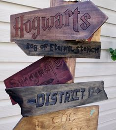 Fictional Places - Sign Post - Street Signs - Harry Potter - Hunger Games - Wicked - Wedding Sign - Geek - Geekery - Single Sign Listing