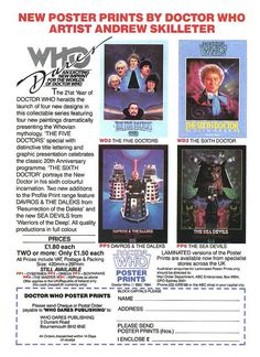 Doctor Who Poster Prints Ad 1985 by combomphotos, via Flickr