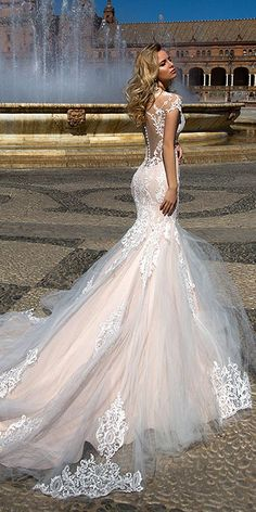 Oksana Mukha Wedding Dresses Collection 2017 ❤ See more: http://www.weddingforward.com/oksana-mukha-wedding-dresses/ #weddings
