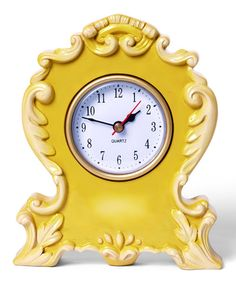 Canary Boho Clock » Love this clock! Such a fun style and color.