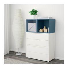 EKET Kastencombinatie met doppen - wit lichtblauw/donkerblauw - IKEA