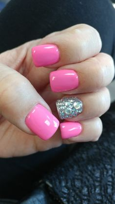 Pink & Bling Nails by Sophie