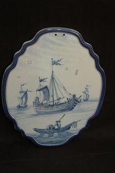 "Extraordinary Antique Danish Delft porcelain plaque from world renowned dealer, Harry Steinfeld, NY. 19th century, possibly earlier. Harry Steinfeld sticker affixed on back. Measures 16.5"" x 13"". Markings and condition appropriate with age. Very rare"