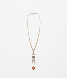 ZARA - NEW IN - COLOURFUL GEOMETRICAL NECKLACE