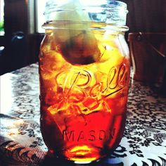 Moose Cafe in Asheville, NC- There is always fresh sweet tea at the moose cafe!