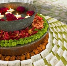 indian floating candles table - Google Search