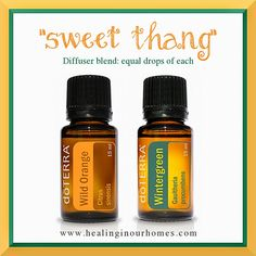 """""""sweet thang"""" essential oil diffuser blend.  Smells like candy!"""