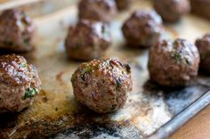 Meatballs With Any Meat Recipe - NYT Cooking: 5 Easy Meals for the Distracted Cook Meatball Recipes, Meat Recipes, Cooking Recipes, Supper Recipes, Oven Recipes, Cooking Ideas, Cooking Without A Recipe, How To Cook Meatballs, Cooking Meatballs