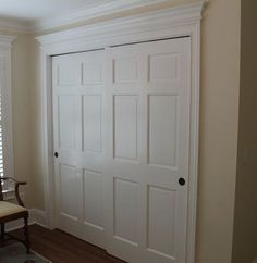 Bypass sliding closet doors for girls' bedroom