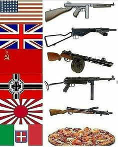 "7,625 Likes, 144 Comments - @worldwar2_memes on Instagram: ""#ww2 #thompson #sten #ppsh41 #mp40 #type100 #bigsausagepizza #smg"""