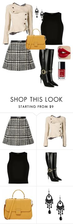 """""""Untitled #6"""" by styledbyrhoni ❤ liked on Polyvore featuring Jill Stuart, Vivienne Westwood Red Label, River Island, Gucci, Chanel, women's clothing, women, female, woman and misses"""