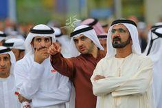 Saeed bin Maktoum bin Juma Al Maktoum, Hamdan MRM, Rashid MRM y Mohammed RSM (31/03/2012) Foto: Hamad AlKaabi