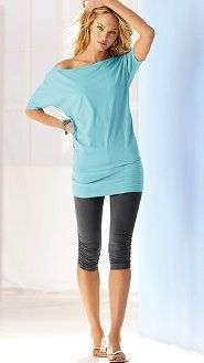 I love VS Daily line of tunics/leggings. Makes my daily 'stay-at-home-mom' look a tiny bit more sexy and way more comfortable! Lounge Outfit, Lounge Wear, Comfy Outfit, Candice Swanepoel, Victoria's Secret, Mode Style, Style Me, Mom Outfits, Cute Outfits