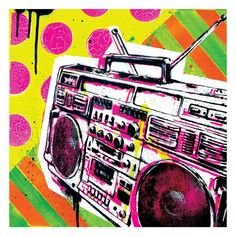 GHETTO BLASTER  Pop Art Print