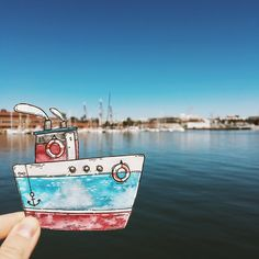 #tania_art_outdoor #illustration #watercolor #artistoninstagram #picame #painting #painteveryday #ship #boston
