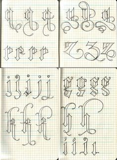 blackletter sketching #typography #sketch
