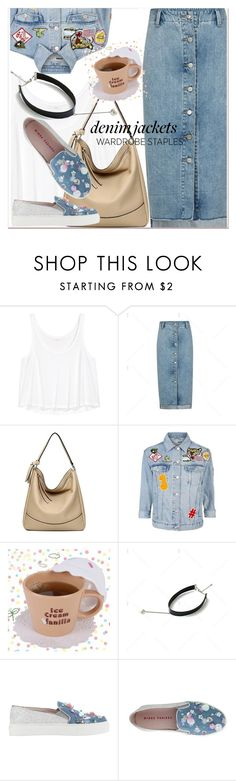 """""""Wardrobe Staple: Denim Jackets 3"""" by paculi ❤ liked on Polyvore featuring H&M, Topshop, denimjackets and WardrobeStaples"""