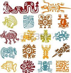 セット - メキシコのシンボル 写真素材