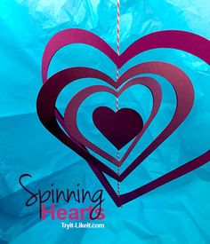 DIY Spinning Hearts :: Cut with Cricut