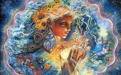 Ideas For Mother Nature Goddess Art Josephine Wall Josephine Wall, Nature Artwork, Nature Paintings, Nature Drawing, Fantasy Kunst, Fantasy Art, Goddess Art, Fantasy Paintings, Wow Art