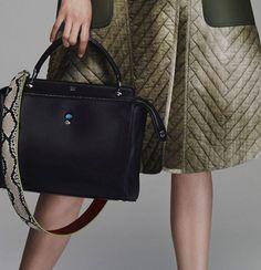 Check out Fendi's brand new Resort 2016 handbags! Fendi Bag Bugs, Stylish Handbags, Work Tote, How To Make Handbags, New Bag, Beautiful Bags, Saddle Bags, Leather Backpack, Bag Accessories