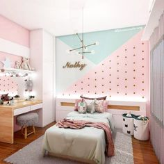cute and girly bedroom decorating tips for girl 14 3 Girl. cute and girly bedroom decorating tips for girl 14 3 Girl. Unusual Children Bedroom Decoration Ideas That Look Cool 40 bedroom ideas with the latest 2020 fashion trend budget for you 39 Girl Bedroom Walls, Small Room Bedroom, Girl Room, Small Rooms, Cozy Bedroom, Cute Bedroom Ideas, Room Ideas Bedroom, Childrens Room Decor, Baby Room Decor