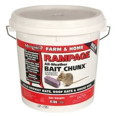 Motomco Rampage Rat Bait - 4 lb. Bucket Chunx - 22249 by Motomco. $59.99. Motomco Rampage Pest Control kills anti-coagulant resistant rodents including rats and mice. This Rampage Pest Control is a powerful bait that kills 5 times faster than other baits, no secondary poisoning needed! This bait is great for use in a bait rotation system. Rodents stop eating this pest control bait from Motomco after ingesting a lethal dose which saves you money by using less bait. Rampag...