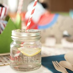 Love these for drinks for a party!(link is the resource for these jars)