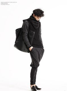 black on black korean style