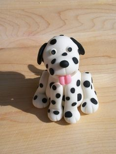 Fondant Dog Cake Topper. $8.00, via Etsy.