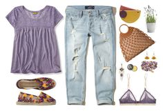 """Lavender with mustard"" by shelliquinn ❤ liked on Polyvore featuring Aéropostale, Hollister Co., Espadrilles, Roksanda, Michael Kors, LoveStories, Potting Shed Creations, Atelier Maï Martin, Spring and TopFashionSet"