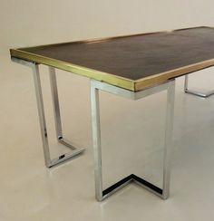 Milo Baughman chrome vintage coffee table c.1960's
