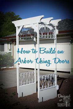 How to build an arbor using doors, gonna use the bracket anchor idea.