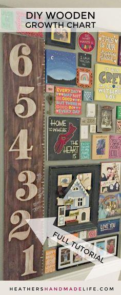 DIY growth chart ruler {Heather's Handmade Home}