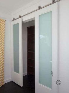 56 Ideas Bedroom Closet Doors Modern Laundry Rooms For 2019 Closet Door Alternative, Pocket Doors Bathroom, Sliding Barn Door Hardware, Sliding Room Doors, Modern Room, Room Door Design, Modern Barn Door, Closet Bedroom, Trendy Bedroom