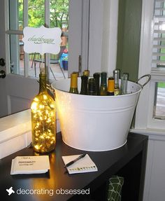 My wine-tasting party. Picture of one of the stations. http://decoratingobsessed.blogspot.com/2011/05/white-wine-tasting-party.html