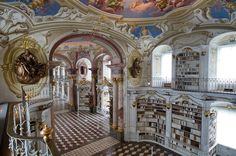 The library at the Admont Benedictine Monestary in Austria.